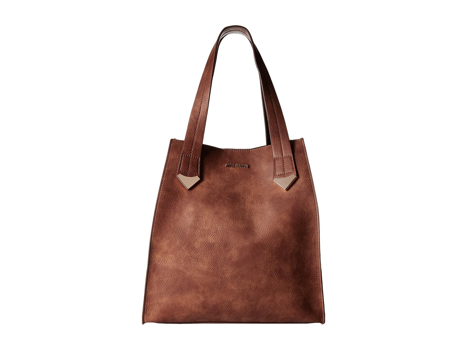 Samantha Brown Luggage Qvc: Steve Madden Brylee Large Tote Cognac