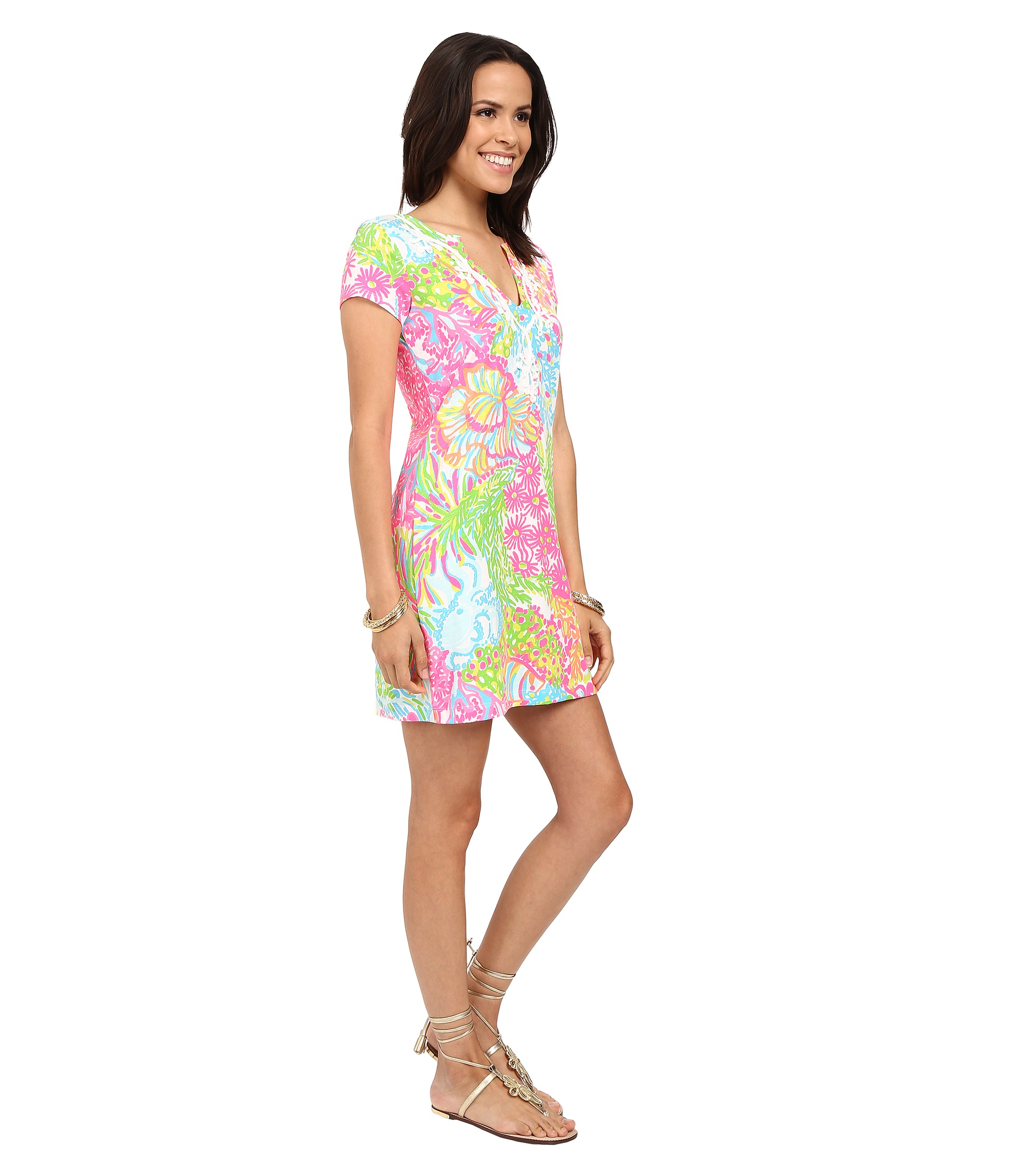 Lilly Pulitzer Brewster Dress Multi More Lovers Coral