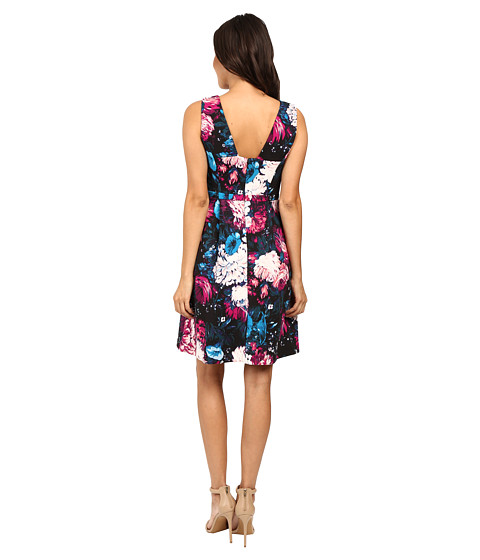 Adrianna Papell Lined Renaissance Printed Suba Fit And