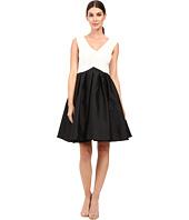 Adrianna Papell V Neck Sleeveless Fit Flare Dress