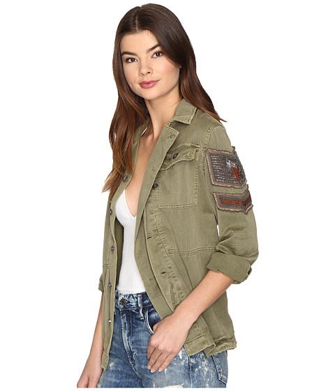 Free People Embellished Military Jacket Olive Zapposcom