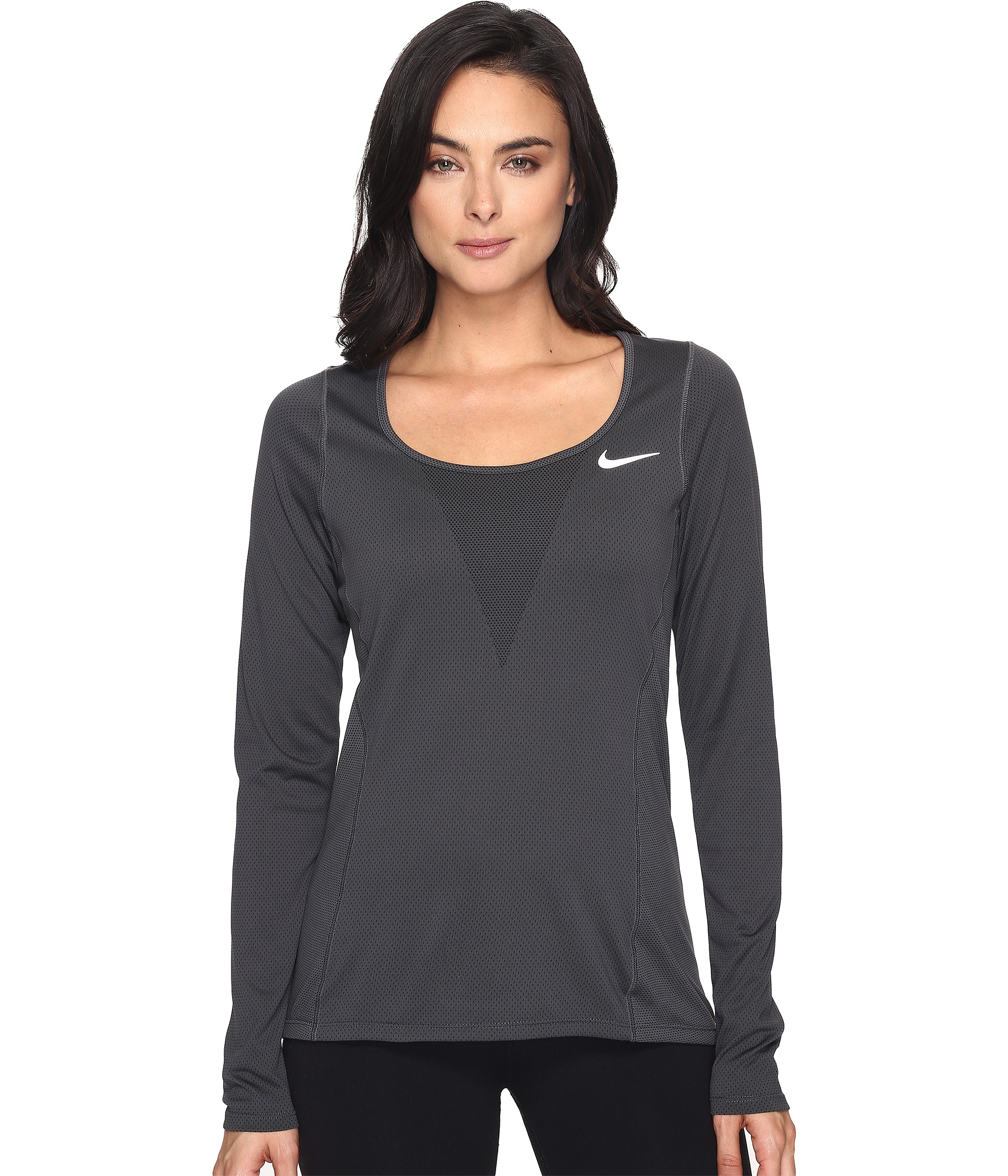 Nike Zonal Cooling Relay Long Sleeve Running Top At Zappos Com