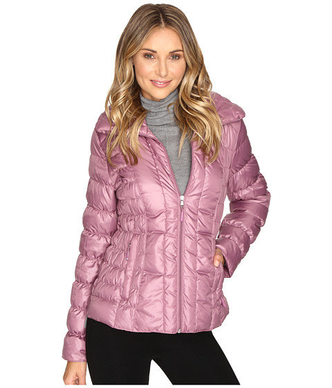 Kenneth Cole New York Quilted Puffer Jacket Mauve - 6pm.com