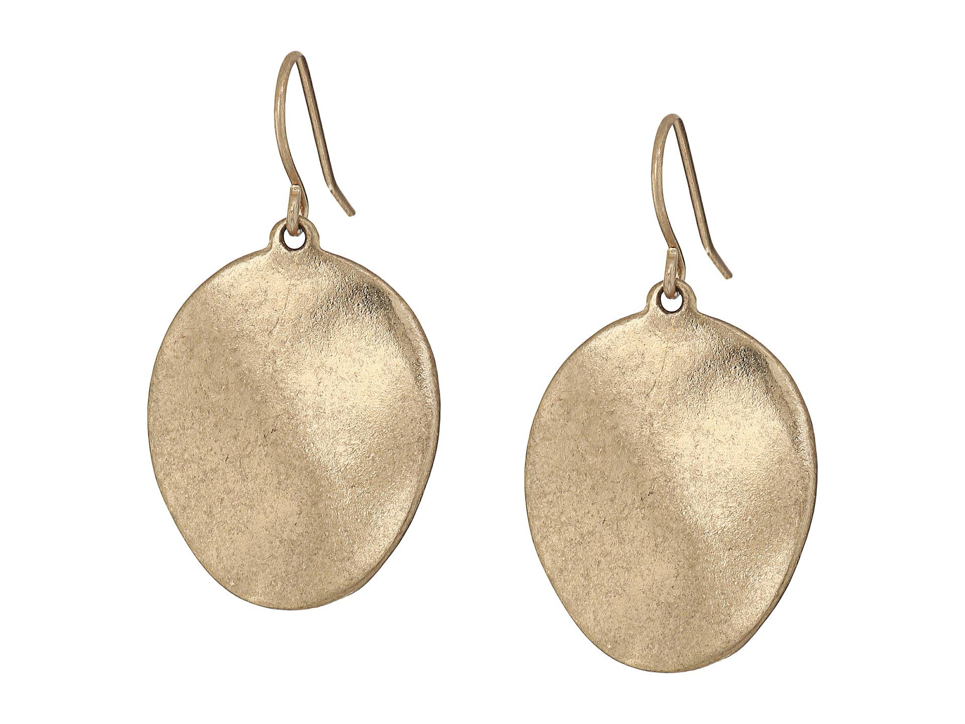The Sak Wavy Disc Drop Earrings At Zappos.com