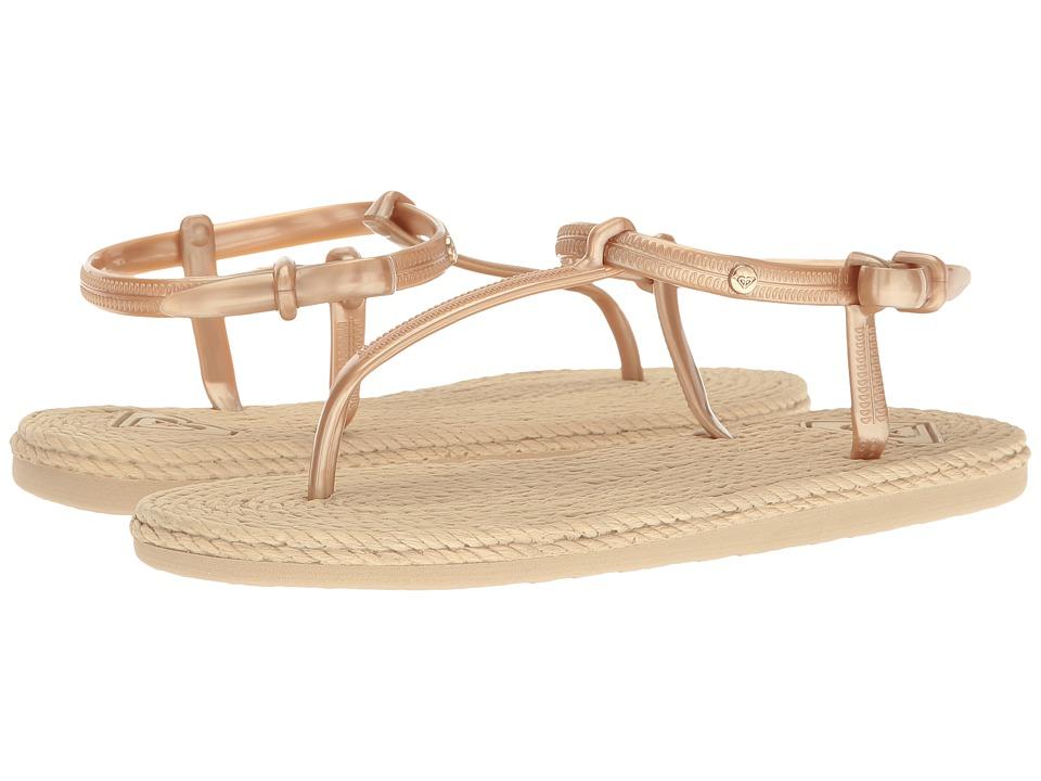 5db49584215bd9  26.00 More Details · Roxy - South Beach T-Strap (Gold) Women s Sandals