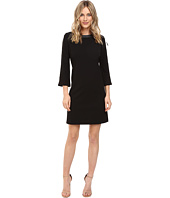 Bcbgmaxazria Willa Lace Dress Dark Ink Combo Clothing