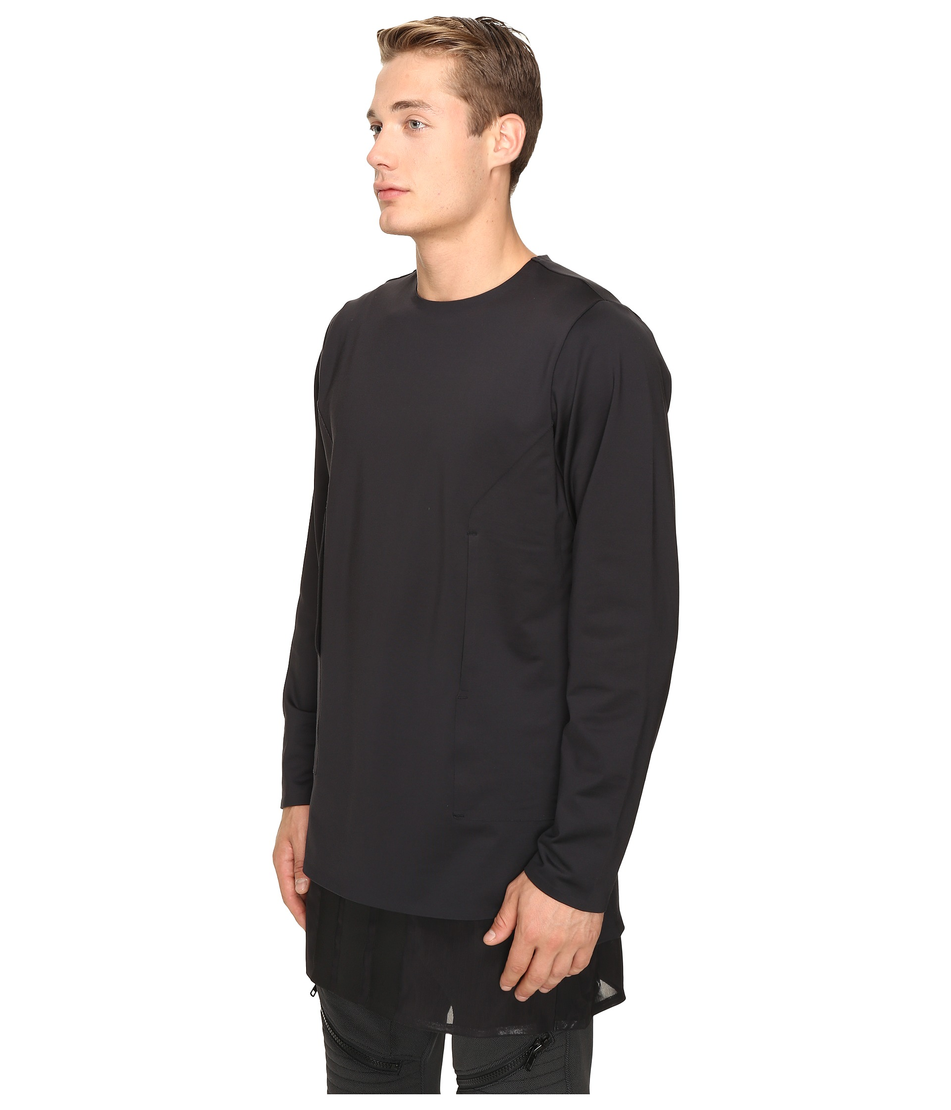 adidas y 3 by yohji yamamoto lux ft pure long sleeve t. Black Bedroom Furniture Sets. Home Design Ideas