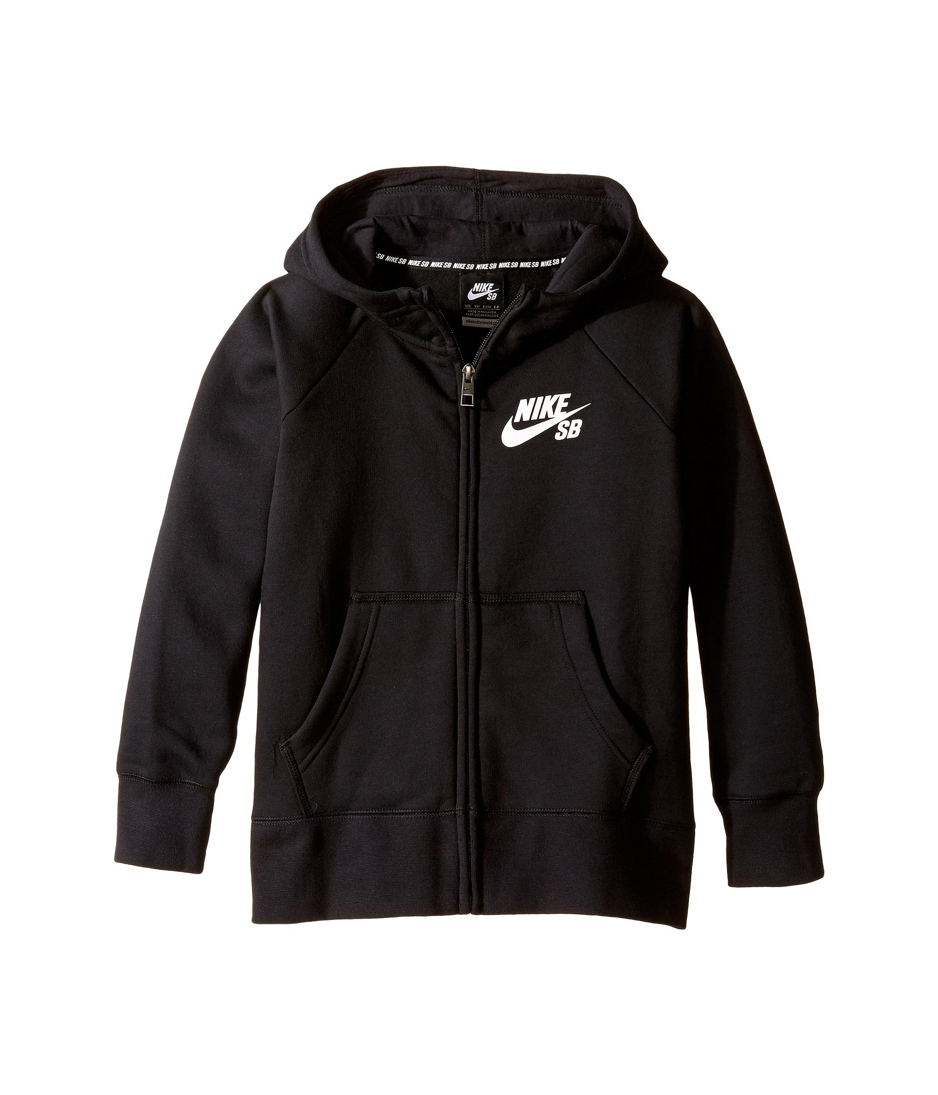 Nike Kids SB Icon Full-Zip Hoodie (Little Kids/Big Kids ...