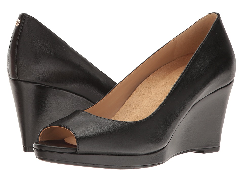 cffa73a702e Naturalizer - Olivia (Black Leather) Women s Wedge Shoes