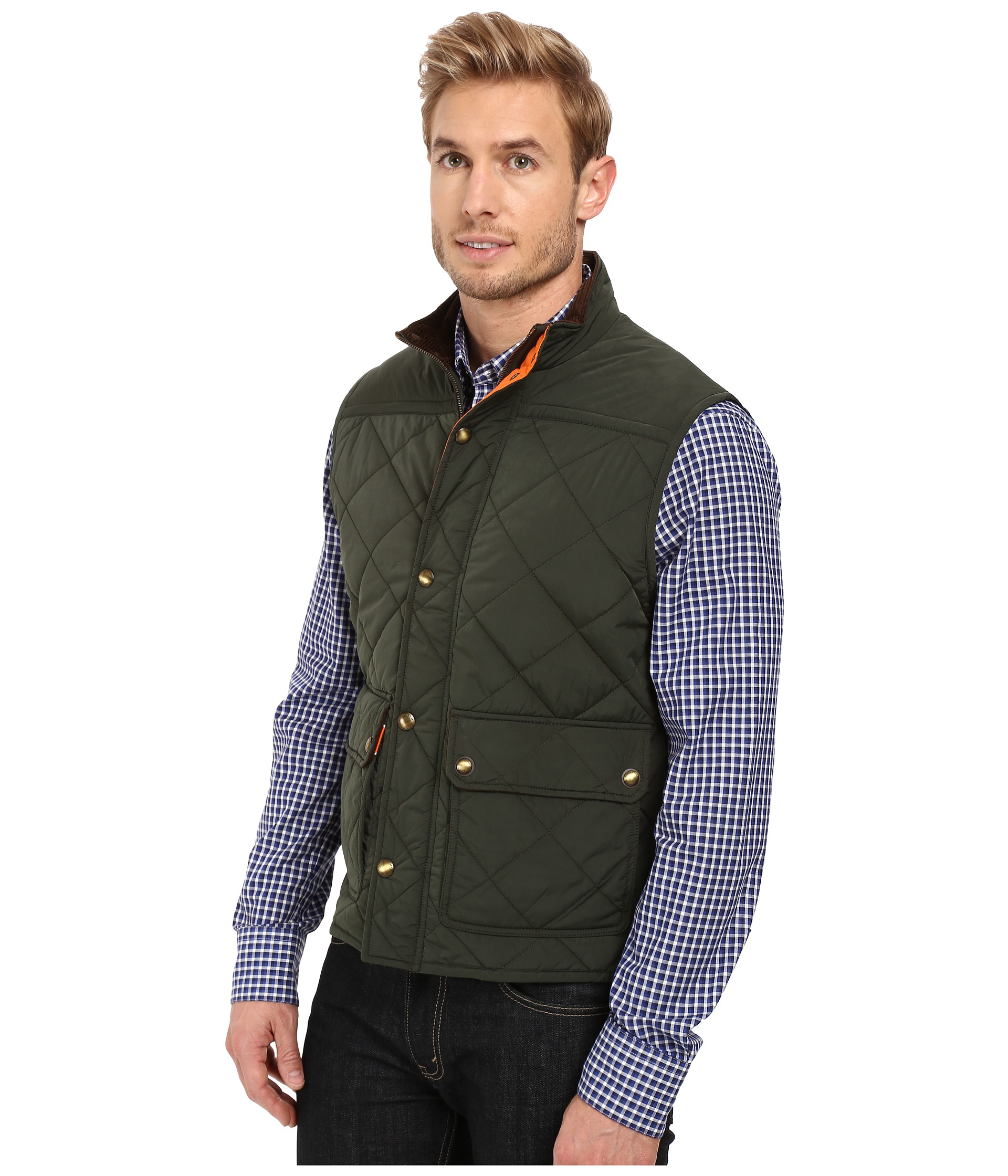 Vineyard Vines Quilted Vest Charleston Green Zappos Com