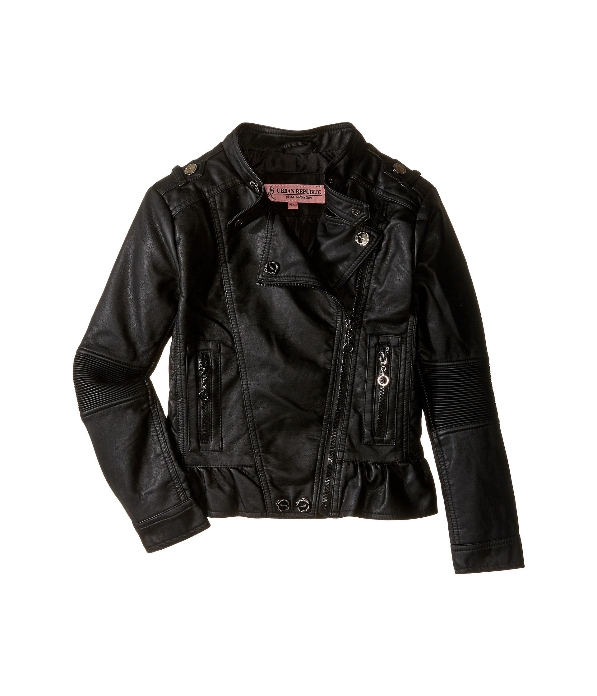 Black leather jacket kids