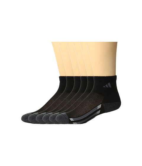 Adidas Kids Vertical Stripe Quarter Socks 6 Pack Toddler