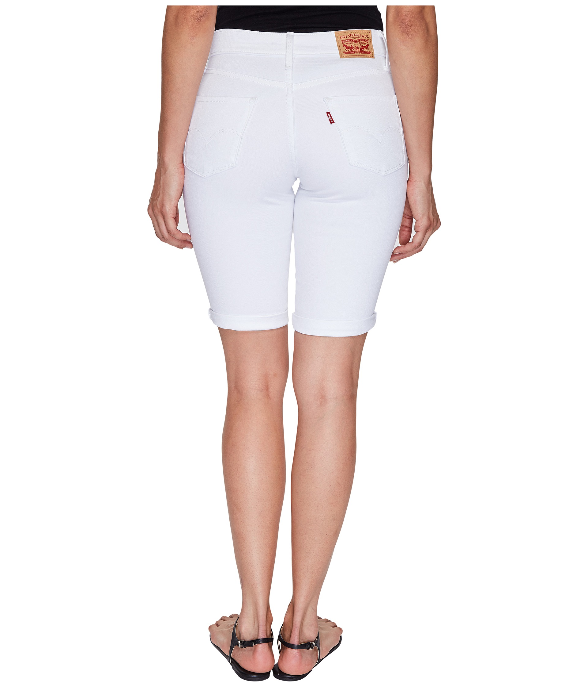 Bermuda shorts for women offer her a range of different styles to choose from. Find styles, such as denim shorts, that are suitable to relax in at home or when visiting with friends. Or choose plaid shorts that are equally at home on the golf course as they are at her favorite coffee house.