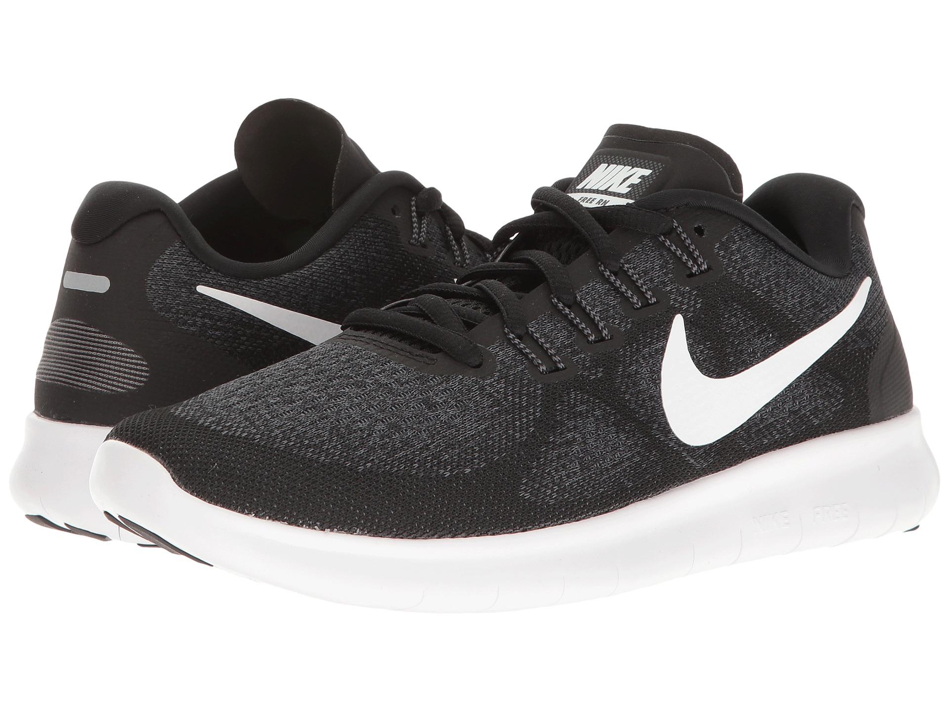 Womens Nike Free Run   V Black White Running Shoes