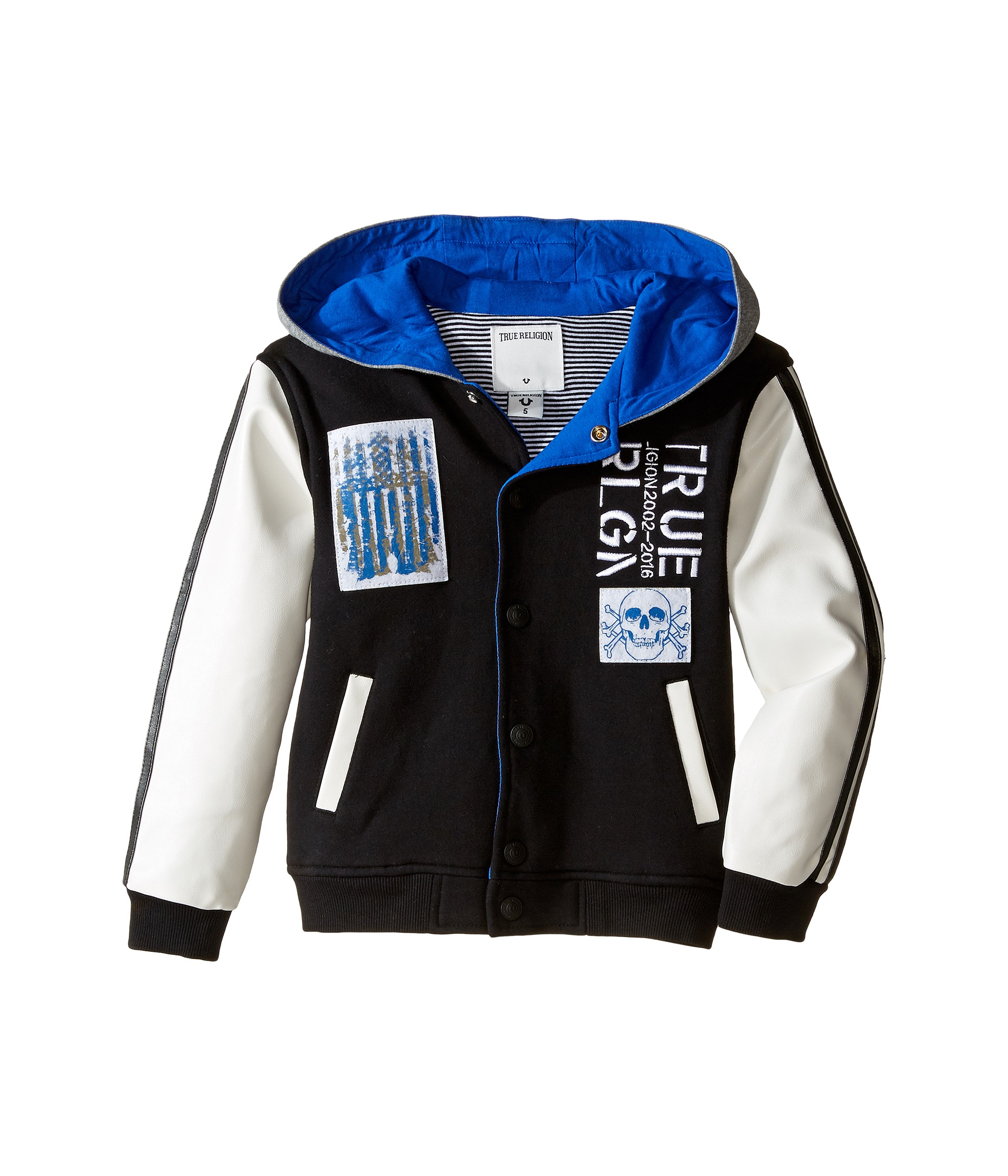 True Religion Kids Punk Varsity Jacket (Toddler/Little ...