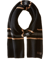 Cashmere Multi Stripe Ribbed Scarf COACH