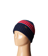 Cashmere Variegated Stripe Rib Hat COACH