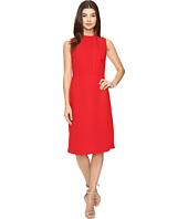 Kamalikulture Sleeveless Shirred Waist Dress Red Clothing
