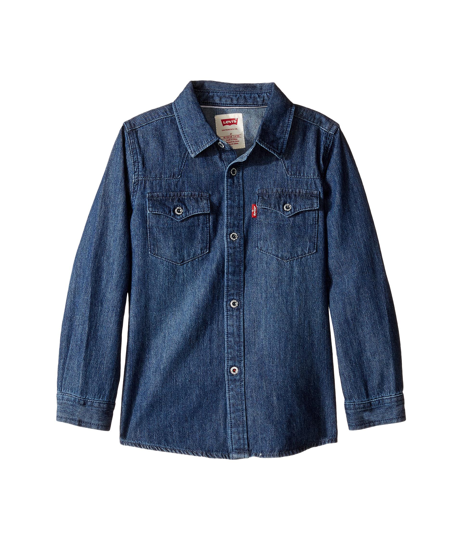 Levi's Boys Denim Pocket Shirt - Blue 3T