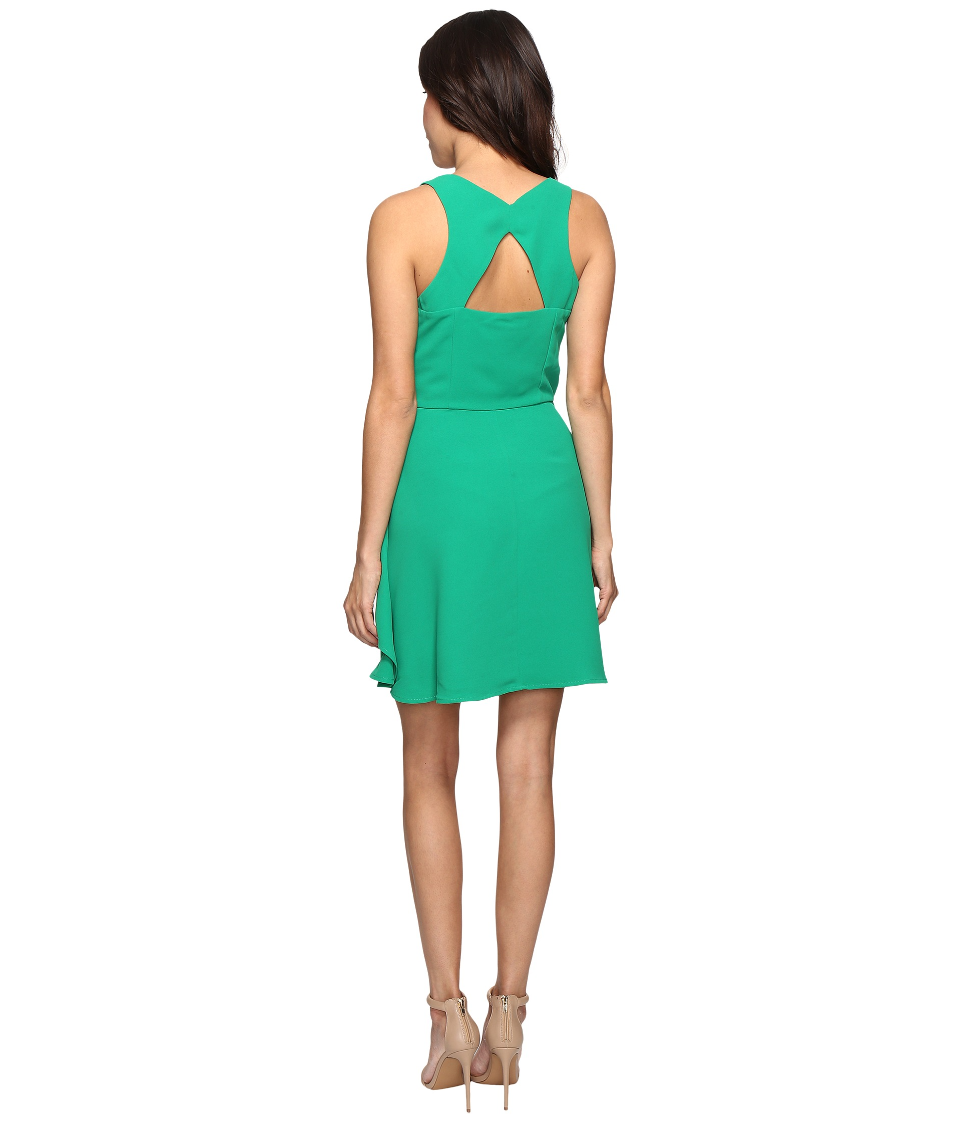 Adelyn Rae Ruffle Fit And Flare Dress Green Zappos Com