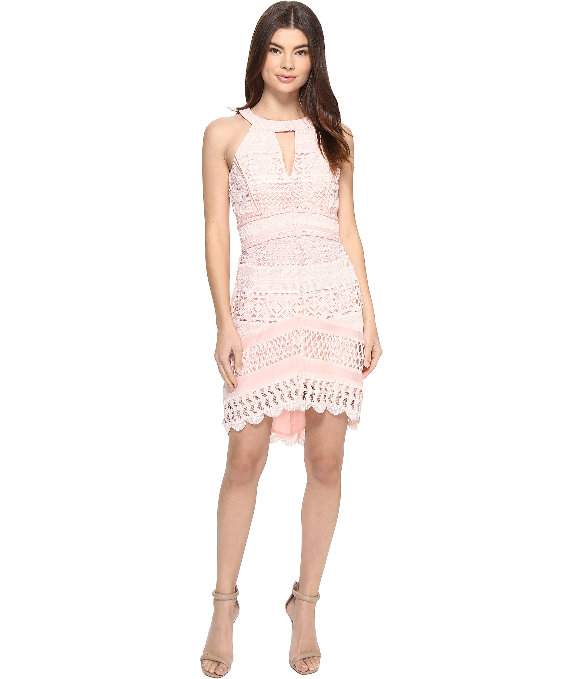 Adelyn Rae Fitted Lace Dress Zappos Com Free Shipping