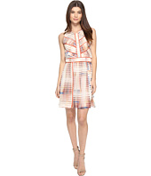 Ellen Tracy Sleeveless Seersucker Fit And Flare Dress