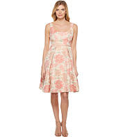 Maggy London Lace Open Back Fit And Flare Dress Green Bean