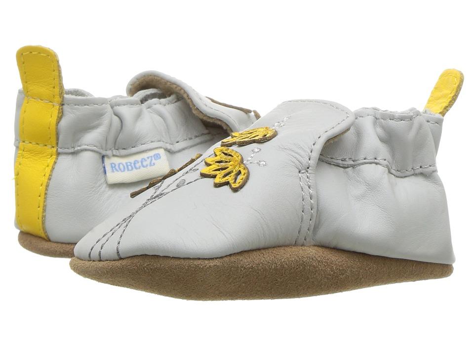 Robeez Mini Shoez White With Embroidery