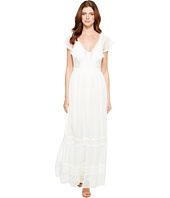 Adrianna Papell 3 4 Sleeve Lace Dress White White