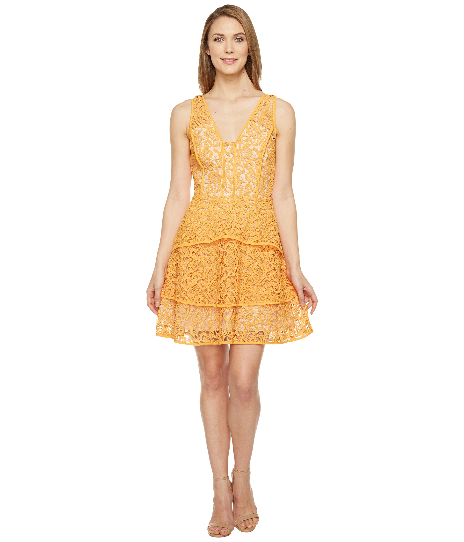 Adelyn Rae Maddie Woven Lace Fit And Flare At Zappos Com