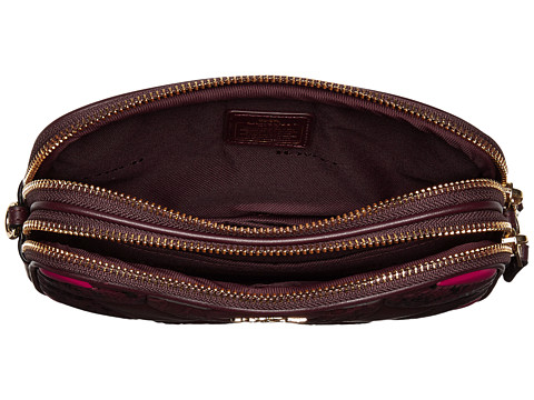 Coach Canyon Quilt Exotic Crossbody Clutch Blood Multi