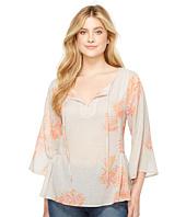 Adrianna Papell Floral Embroidery Peplum Dress Celadon