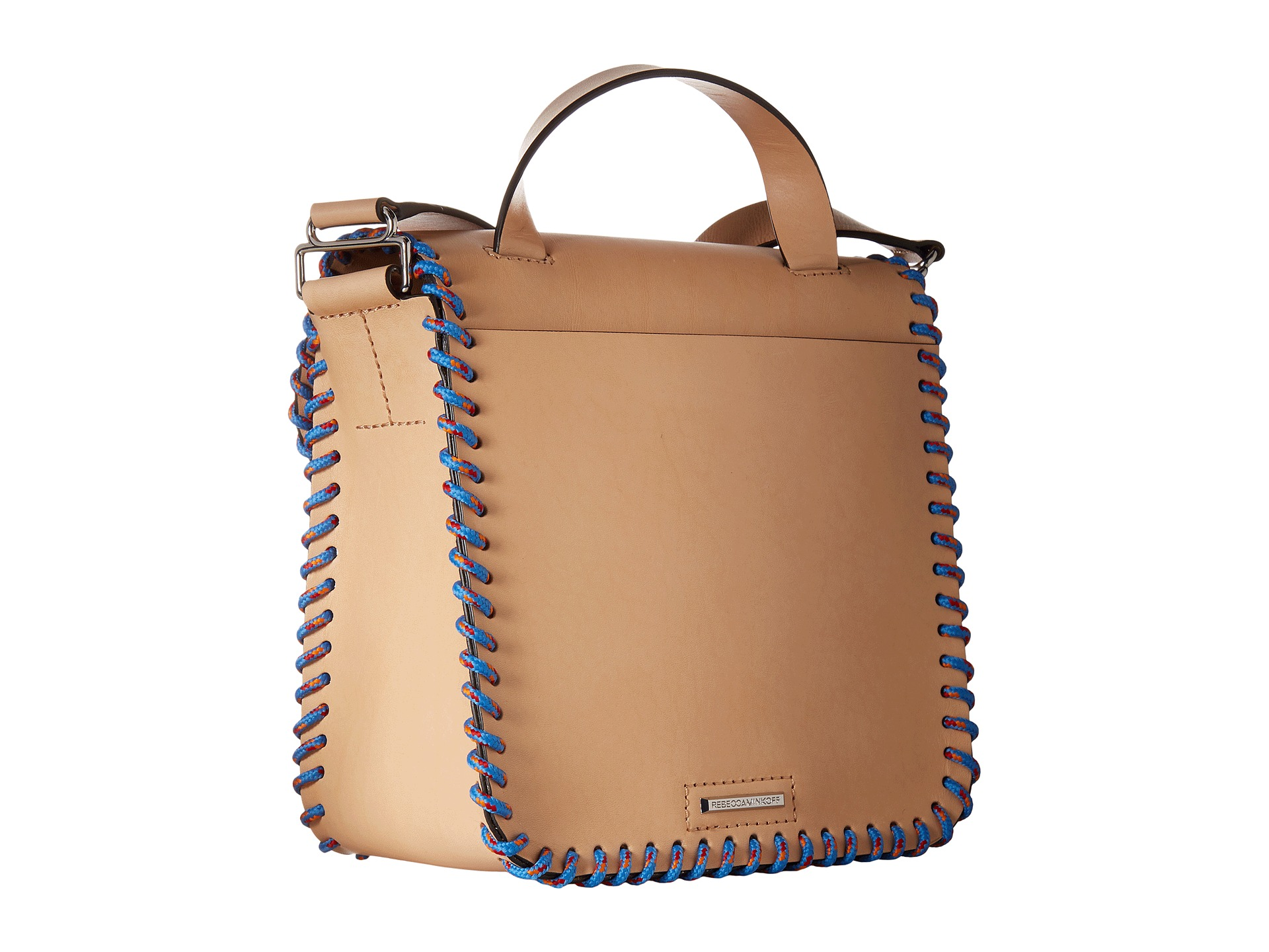 Rebecca Minkoff Midnighter Top Handle Feed Bag Natural