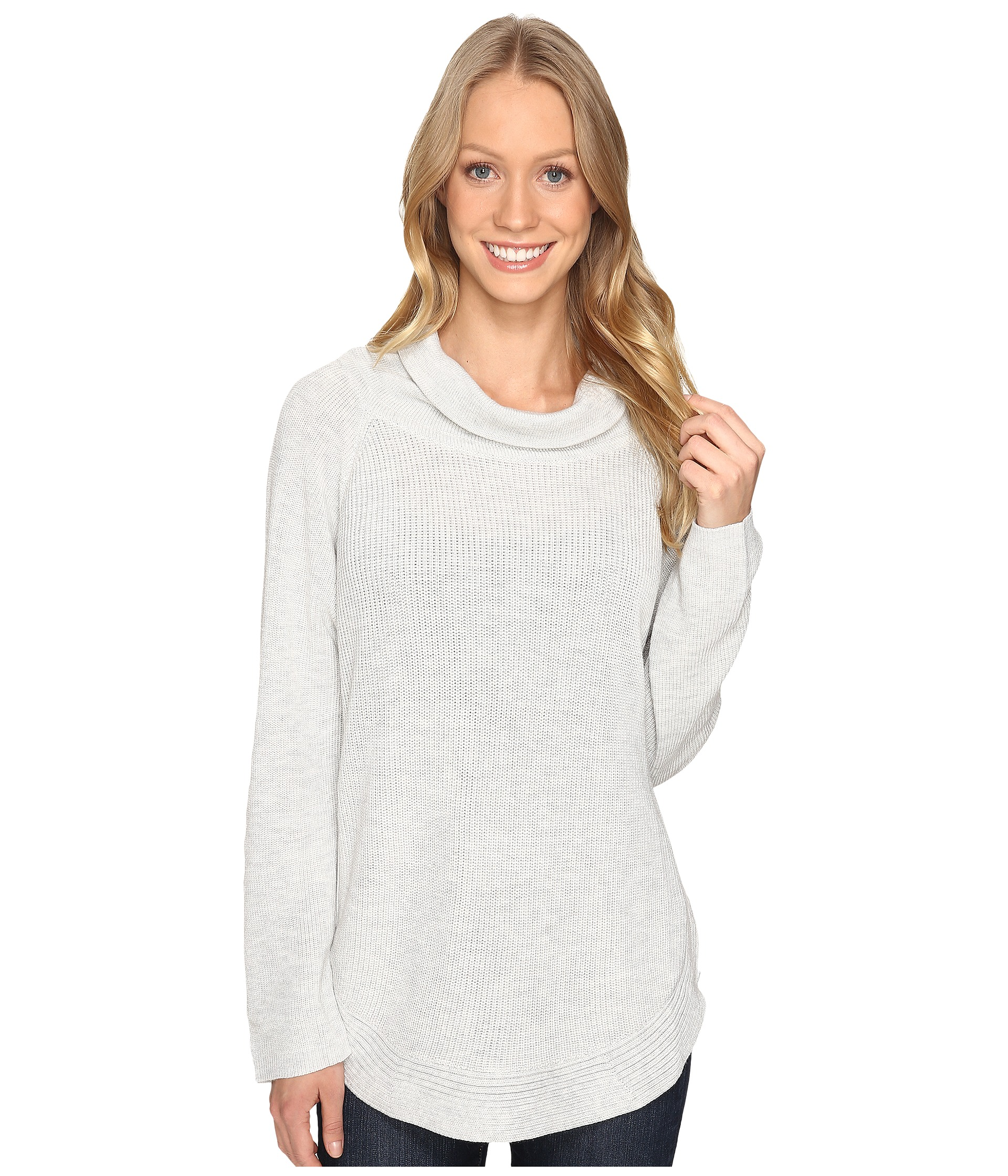 Fate Side Zip Cowl Neck Sweater Grey Zappos Com Free