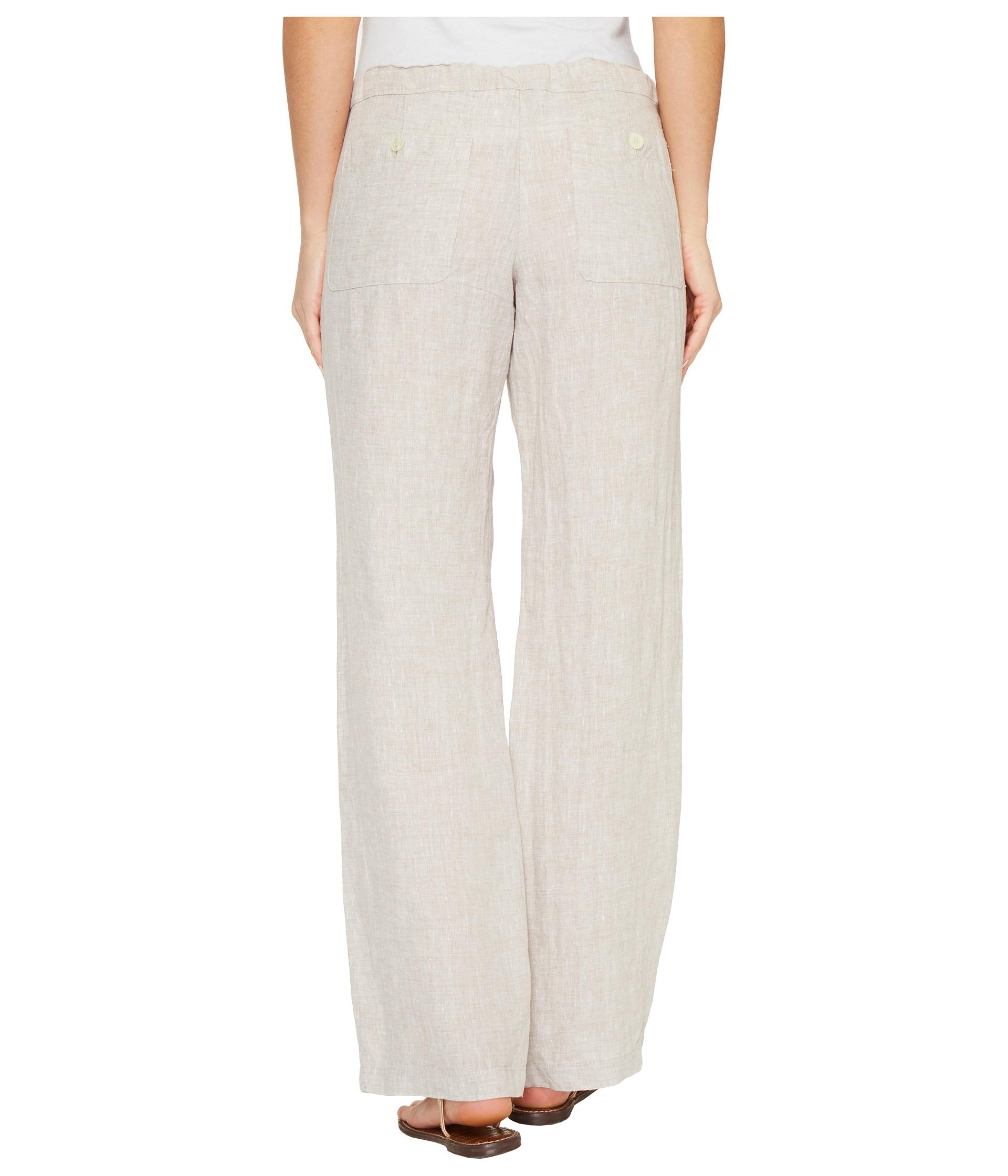 Allen Allen Four Pocket Long Linen Pants At Zappos Com