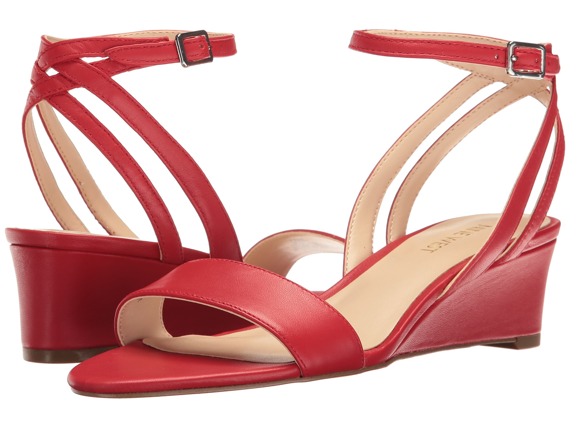 Nine West Lewer Red Leather Zappos Com Free Shipping