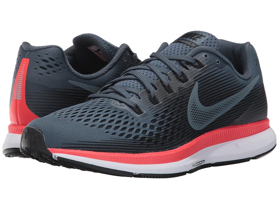 05c4542a18896 Nike - Air Zoom Pegasus 34 (Blue Fox Black Bright Crimson White) Men s  Running Shoes. UPC 884726259146