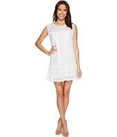 Aryn K A Line V Neck Dress White White Shipped Free At