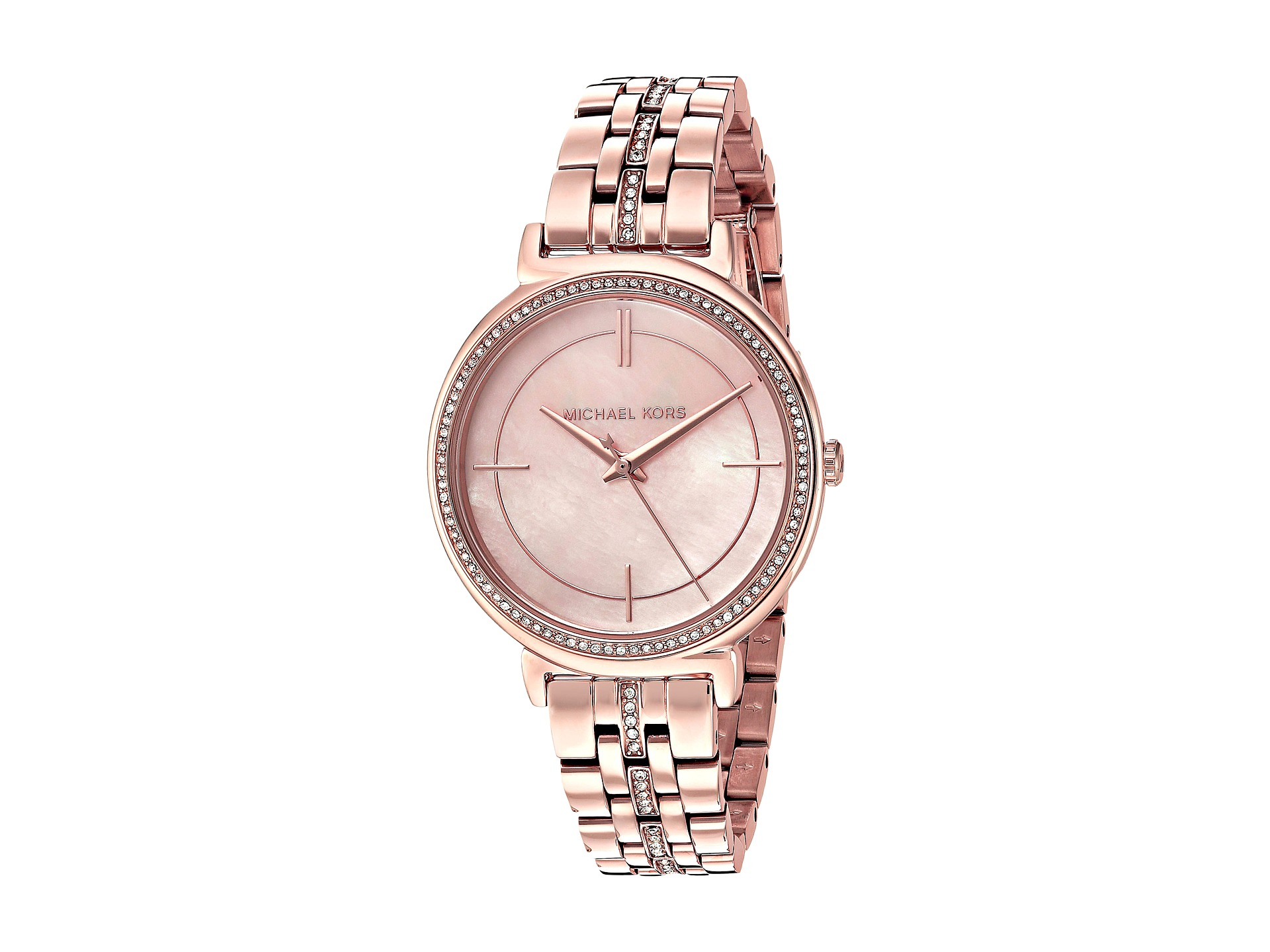 Michael Kors Rose Gold Watch With Mother Of Pearl Face