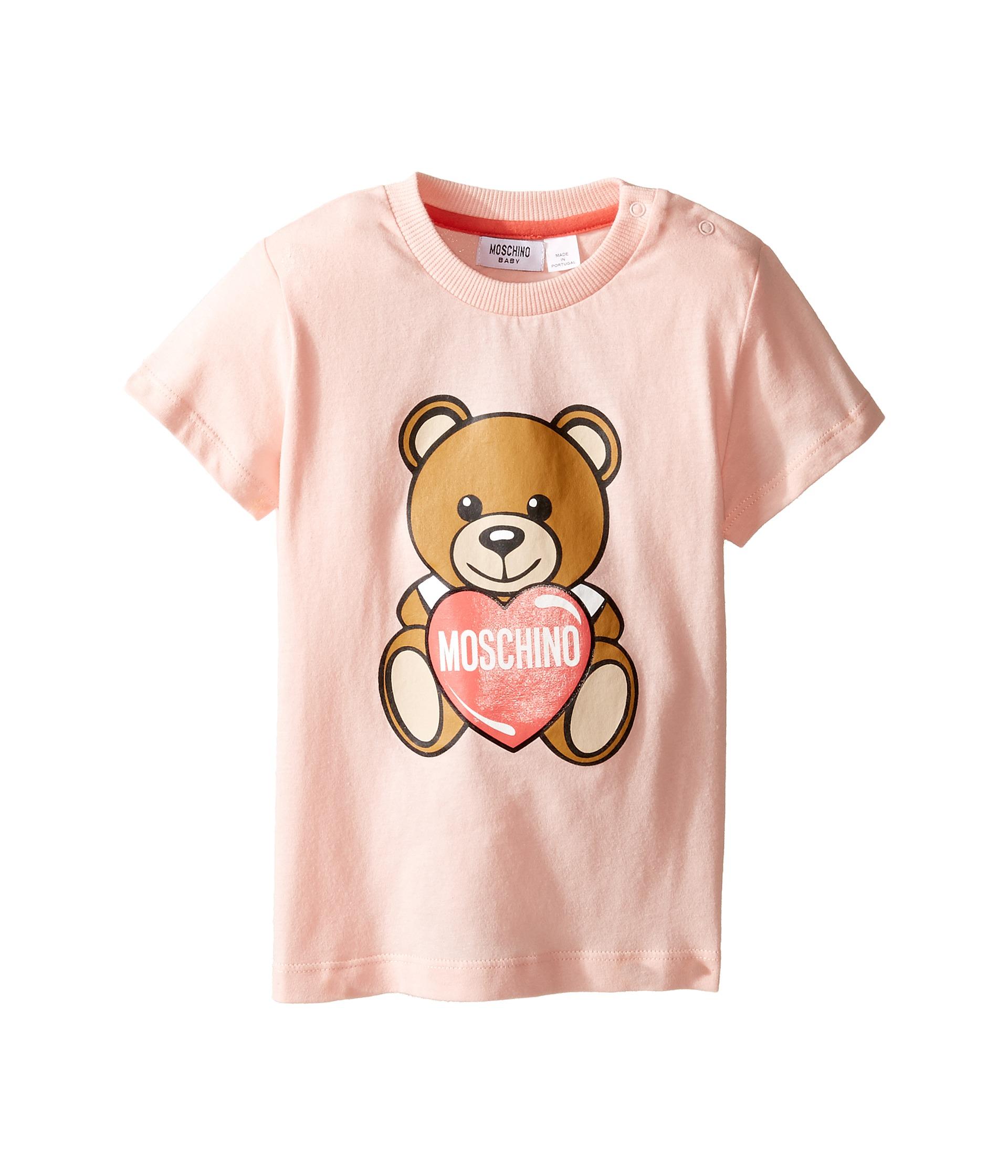 cfc7ec19e Moschino Kids Teddy Bear and Heart Graphic Short Sleeve T-Shirt ...