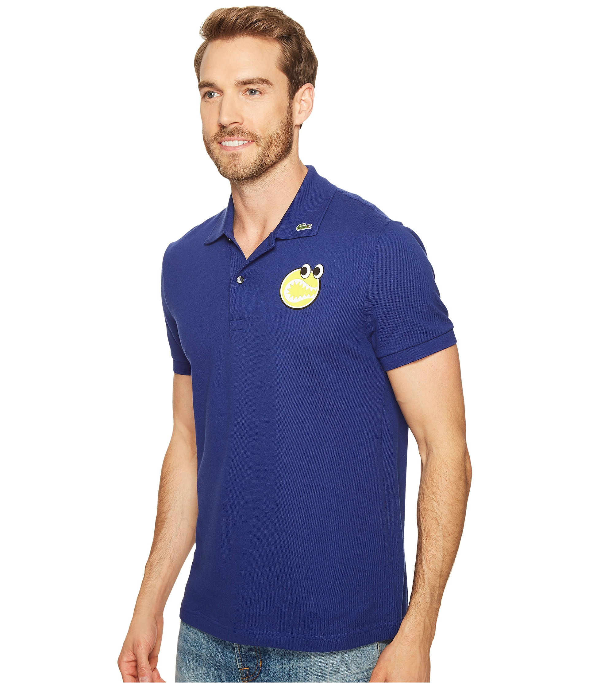 e0db0498 low-cost Lacoste Yazbukey Short Sleeve Pique with Googly Eyes Graphic at