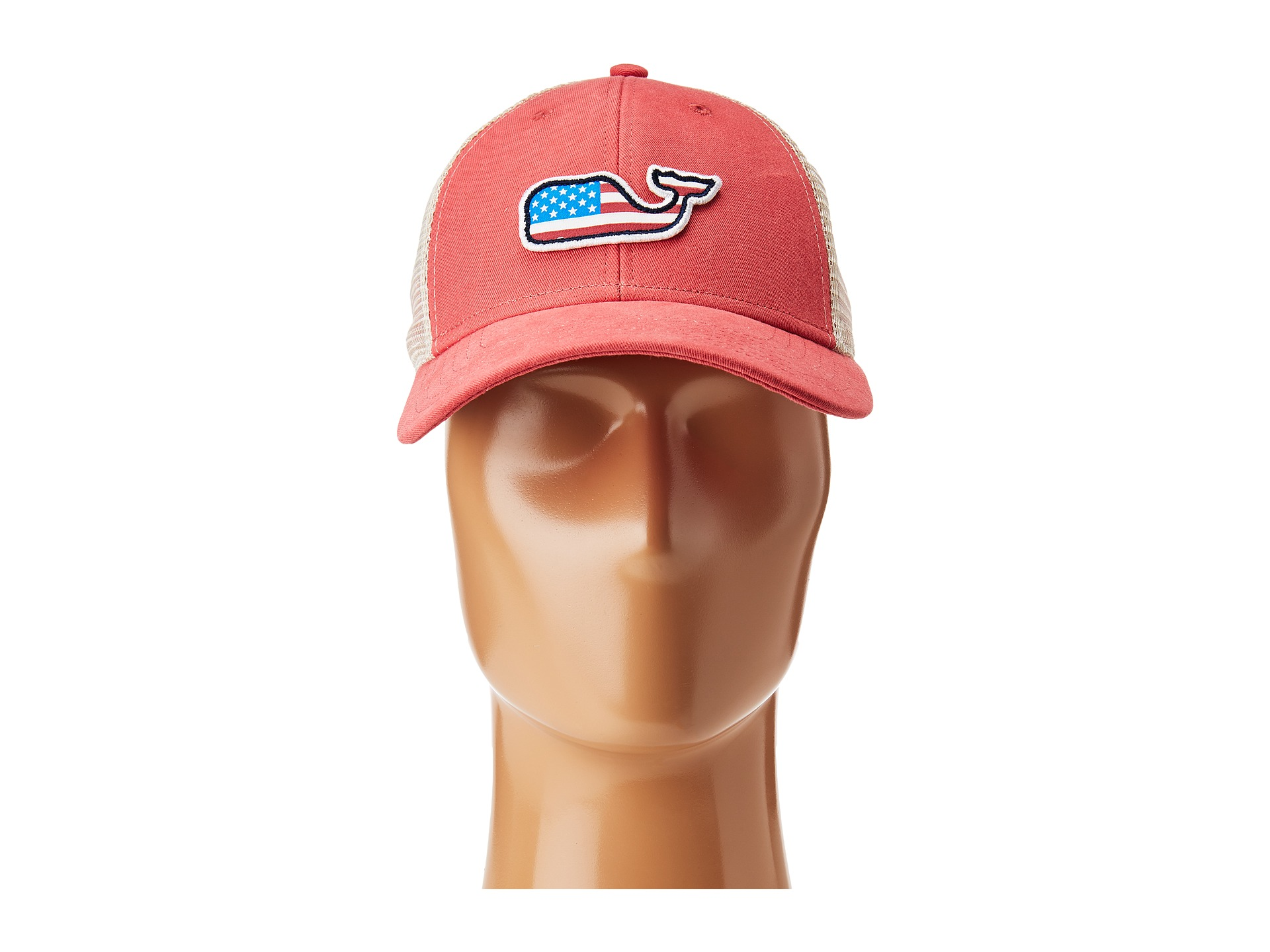 With a patriotic twist on one of their best-loved products, this Vineyard Vines Whale Flag Baseball Hat in Jetty Red is always ready to grab and go. cotton-twill Embroidered whale flag logo on front Signature text on back Adjustable closure.