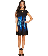 Adrianna Papell Petite Cap Sleeve Beaded Dress Slate