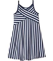 Eliza J Sleeveless Lace Fit Flare Dress Navy Navy