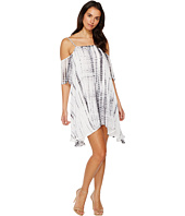 Jill Jill Stuart Everly Double V Neck Dress Ink Off White