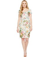 Adrianna Papell Fractured Floral Dress Fuchsia Multi