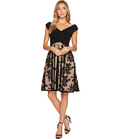 Adrianna Papell Fractured Floral Dress Lipstick Shipped