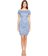 Adrianna Papell L S Lace Dress Shipped Free At Zappos