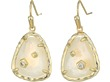 Gold/Crystal Ivory Illusion Cubic Zirconia