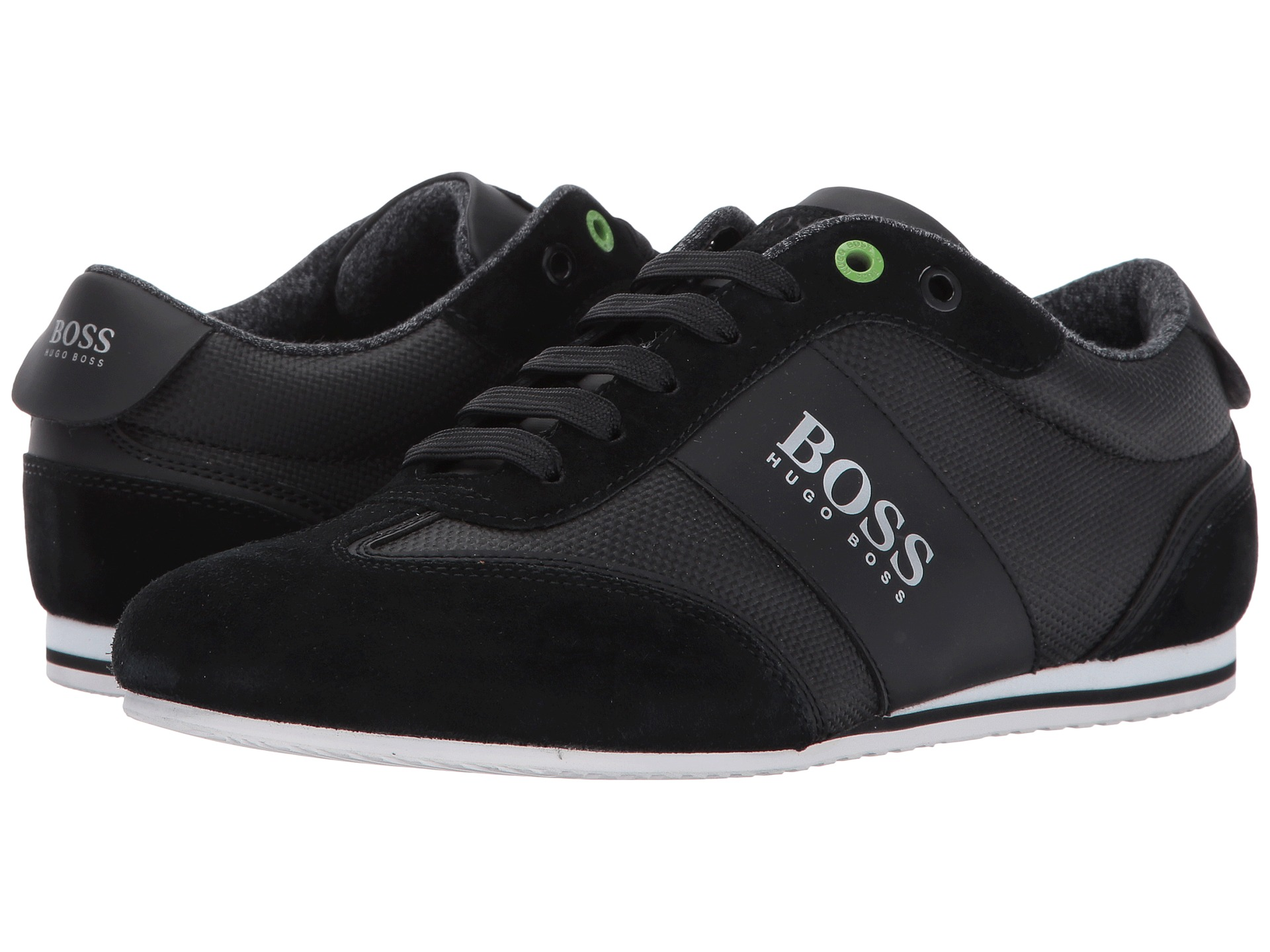 boss hugo boss lighter low coated canvas suede sneaker by boss green at. Black Bedroom Furniture Sets. Home Design Ideas